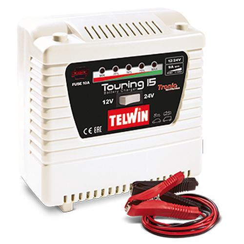 Nabijacka Telwin Touring 15, 12-24V, Tronic, Pb-Ca, Wet, Gel, AGM, EFB, MF
