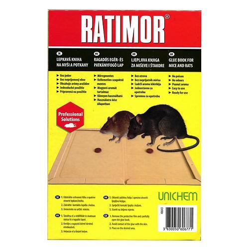 Doska Ratimor®, na myši a potkany, lepová
