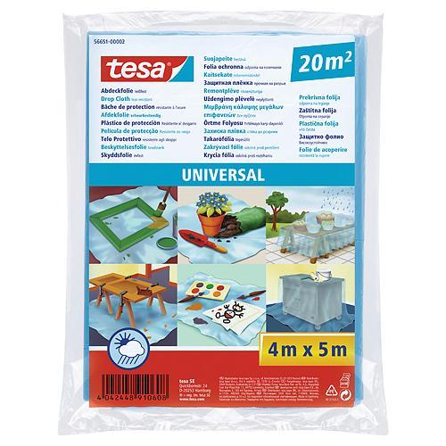 Folia tesa® Universal, zakrývacia LDPE, pevná 17mi, modrá, 5x4 m