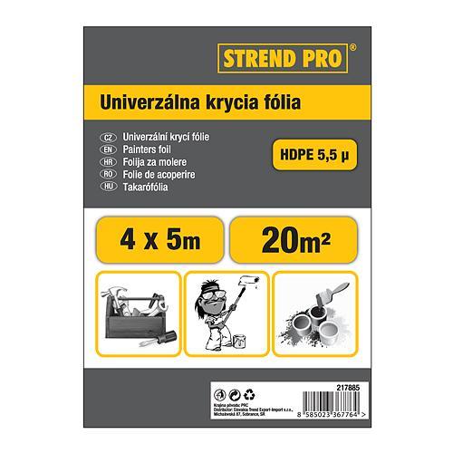 Folia Strend Pro maliarska, Hobby 4x12,5 m, 5,5µ, zakrývacia