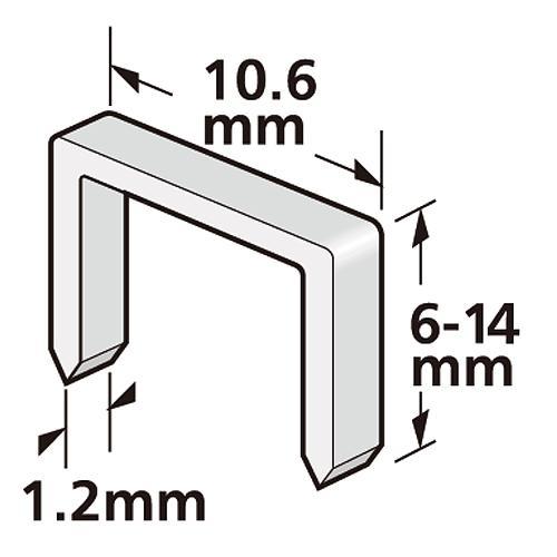 Sponky STREND PRO Premium J908, 8 mm, 1,2x10,6 mm, bal. 1000 ks