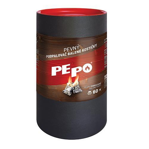 Podpalovac PE-PO®, pevný, 60 podpalov, kocky