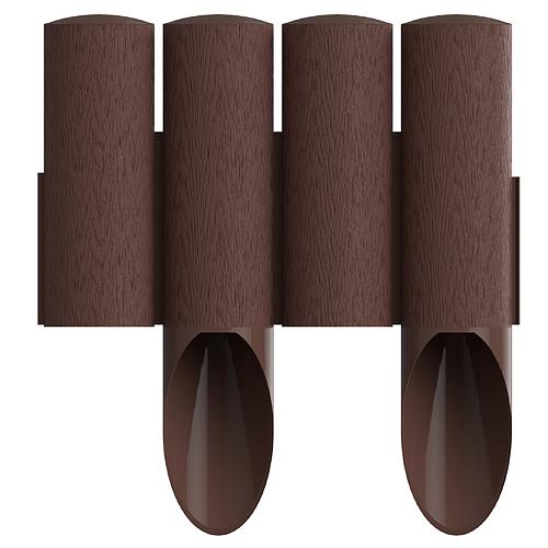 Palisada cellfast® 4 Standard, 2.3 m, hnedá