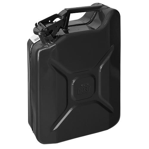 Kanister Jerican 20 lit, kovový, GS/TUV, čierny, RAL9005
