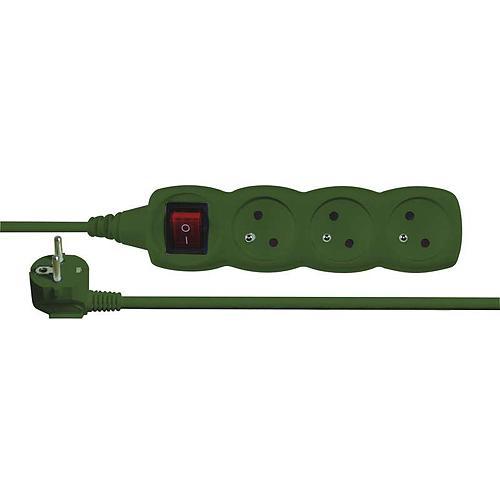 Kabel EMOS E0311, predlžovací, 03 m, 3× 2P + PE
