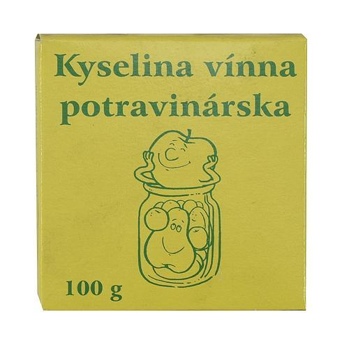 Kyselina vínna, potravinárska, 100 g