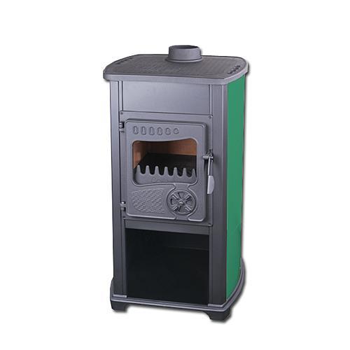 Kachle Bella Thalia, zelené, 10 kW, 120 cm, liatina/šamot