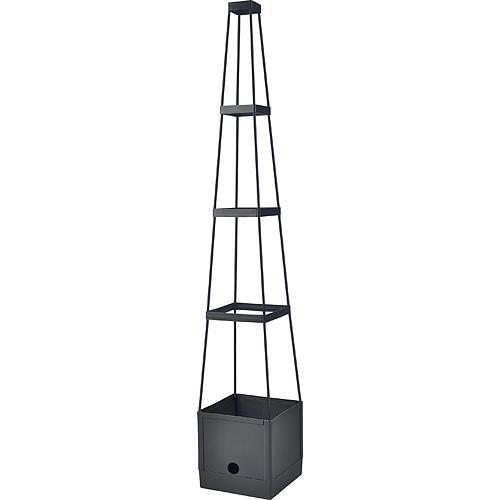 Kvetinac Herrison FP8018, 25x25x150 cm, s opornou vežou