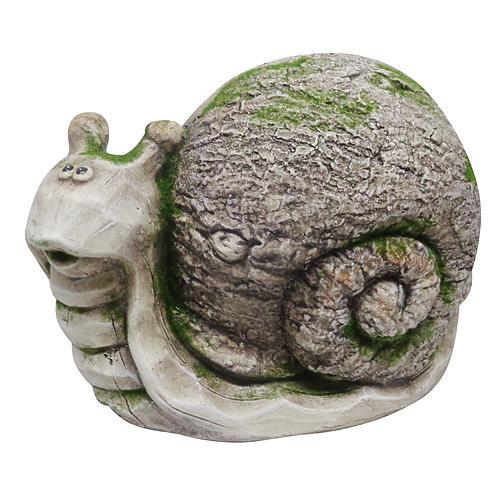 Dekoracia Gecco 8105, Slimák, magnesia, 22 cm