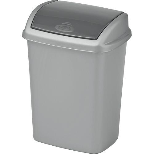 Kôš Curver® DOMINIK 10L, stříbrná/grafitová, na odpadky