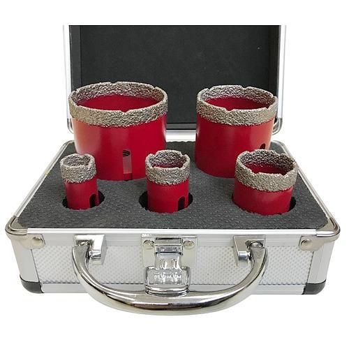 Sada vyrezavac STREND PRO DCB11S, 20-35-45-55-72 mm, diamant