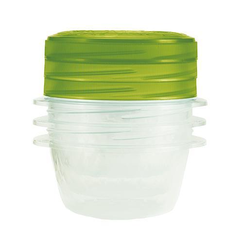 Dozy Curver® TAKE AWAY TWIST 3x0.5L, zelená, 13x13x11 cm