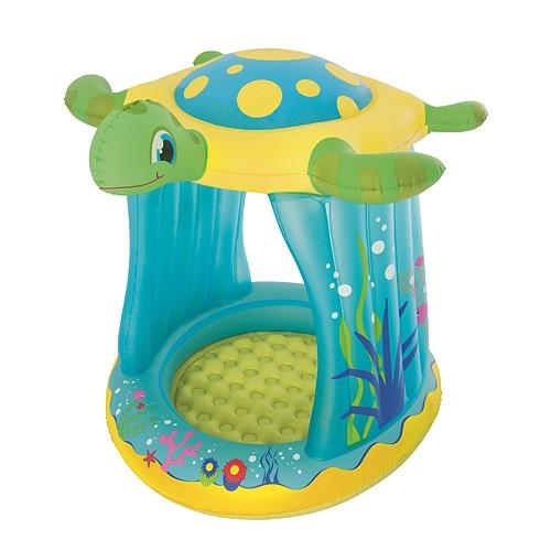 Bazénik Bestway® 52219, Turtle Totz, detský, 109x96x104 cm, nafukovací, so strieškou