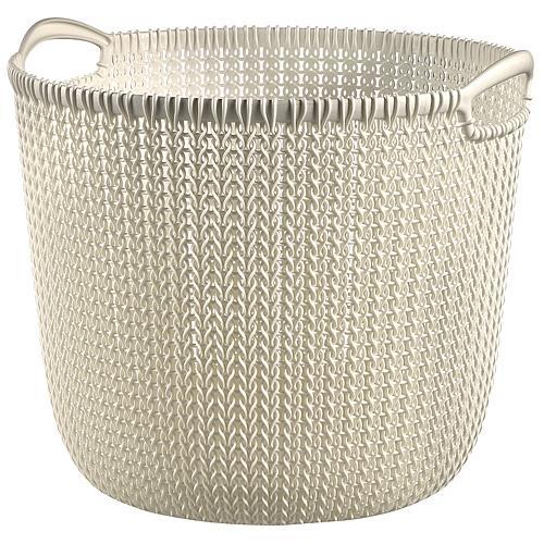 Košík Curver® KNIT 3673 30L, biely, 40x39x33 cm