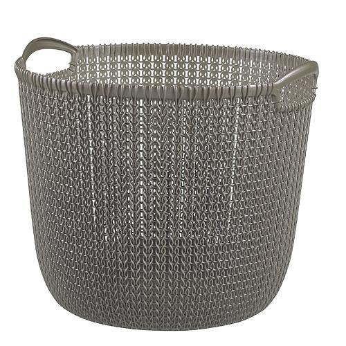 Košík Curver® KNIT 3673 30L, hnedý, 40x39x33 cm