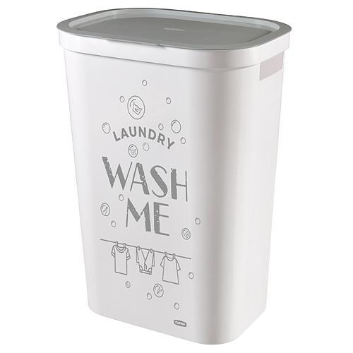 Kôš Curver® INFINITY 59L, Wash Me, 60x39x28 cm, na bielizeň, prádlo