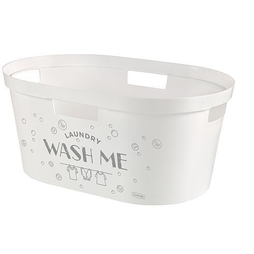 Kôš Curver® INFINITY 40L, Wash Me, 59x39x27cm, na bielizeň, prádlo