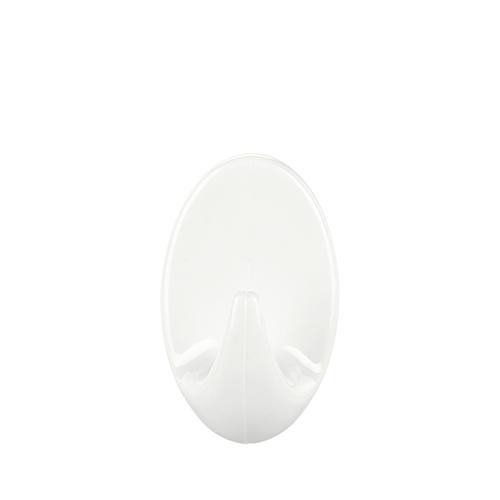 Hacik tesa® Permanent, ovál S, biely, plast