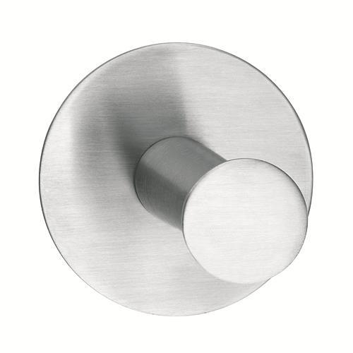 Hacik tesa® Powerbutton, okrúhly, Stainless steel, max. 6 kg
