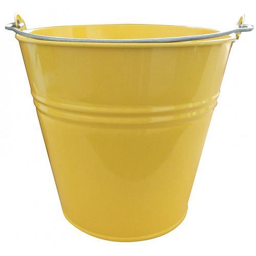 Vedro GECO 20115, 10 lit., žlté, kovové