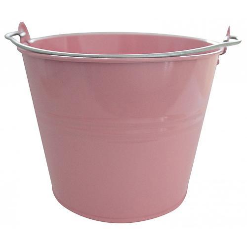 Vedro GECO 20115, 10 lit., ružové, kovové
