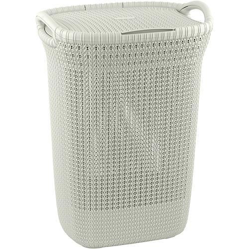Kôš Curver® KNIT 3676 57L, biely, 45x61x34 cm, na bielizeň