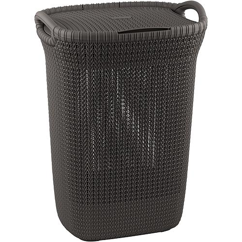 Kôš Curver® KNIT 3676 57L, hnedý, 45x61x34 cm, na bielizeň, prádlo