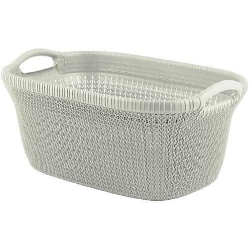 Kôš Curver® KNIT 3677 40L, biely, 60x27x39 cm, na bielizeň, prádlo