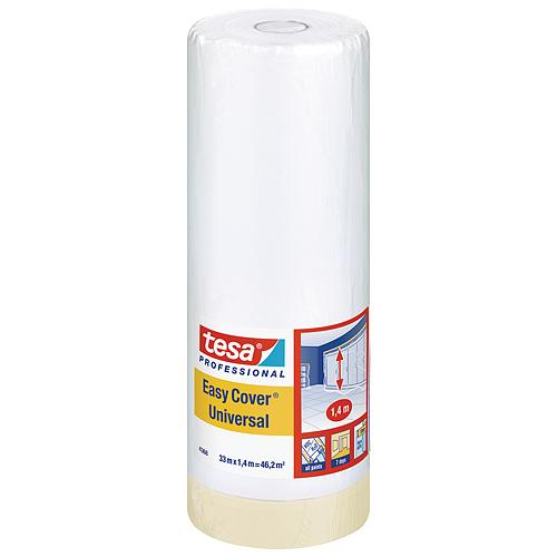 Folia tesa® Pro Easy Cover® Universal, s páskou, 1400 mm, L-33 m, transparentná
