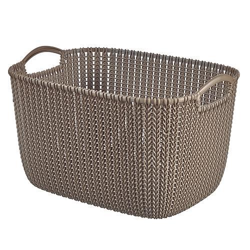 Košík Curver® KNIT 8L, hnedý, 30x22x17 cm