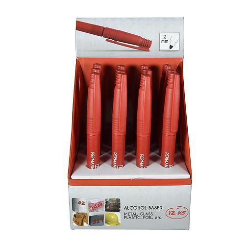 Znackovac STREND PRO Thin, 12 ks, tenký, červený