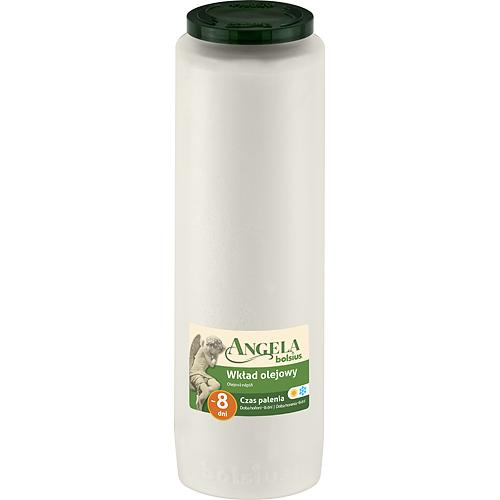 Napln bolsius Angela NR08 biela, 185 h, 550 g, olej
