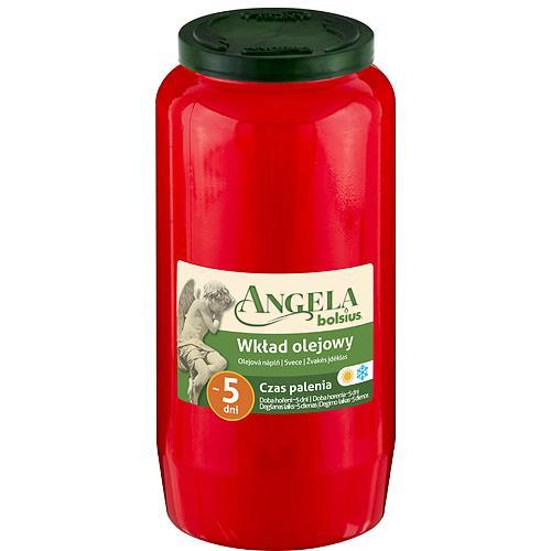 Napln bolsius Angela NR07 červená, 105 h, 317 g, olej