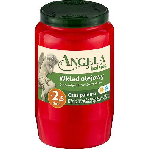Napln bolsius Angela NR03 červená, 55 h, 150 g, olej