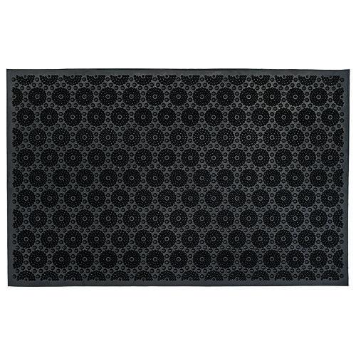 Rohozka MagicHome RBR 017, Dots, 58x36 cm, guma