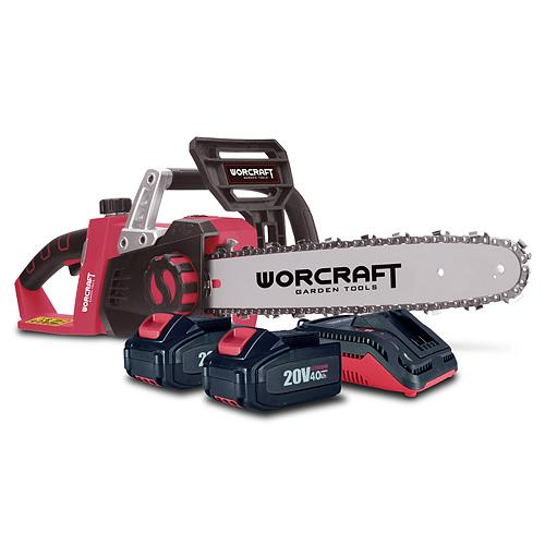 Set Worcraft WSET-06, S20Li reťazová píla, nabíjačka, 2x accu