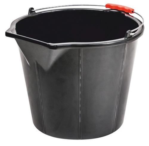Vedro ReCycled® STRONG 15 lit, stavebné s výlevkou, extra silné, plast