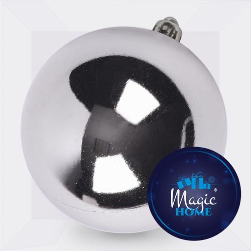 Gula MagicHome, 1 ks, 15 cm, strieborná, na vianočný stromček