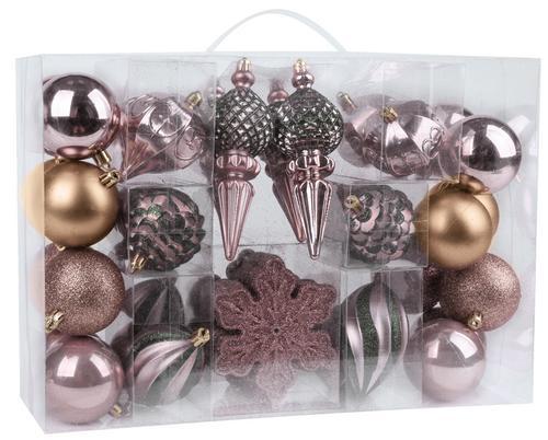 Gule - mix MagicHome, 44 ks, 6-14 cm, ružovo - zelené, na vianočný stromček