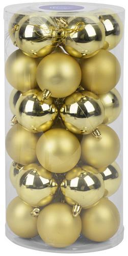Gule MagicHome, 30 ks, 6 cm, zlaté, na vianočný stromček