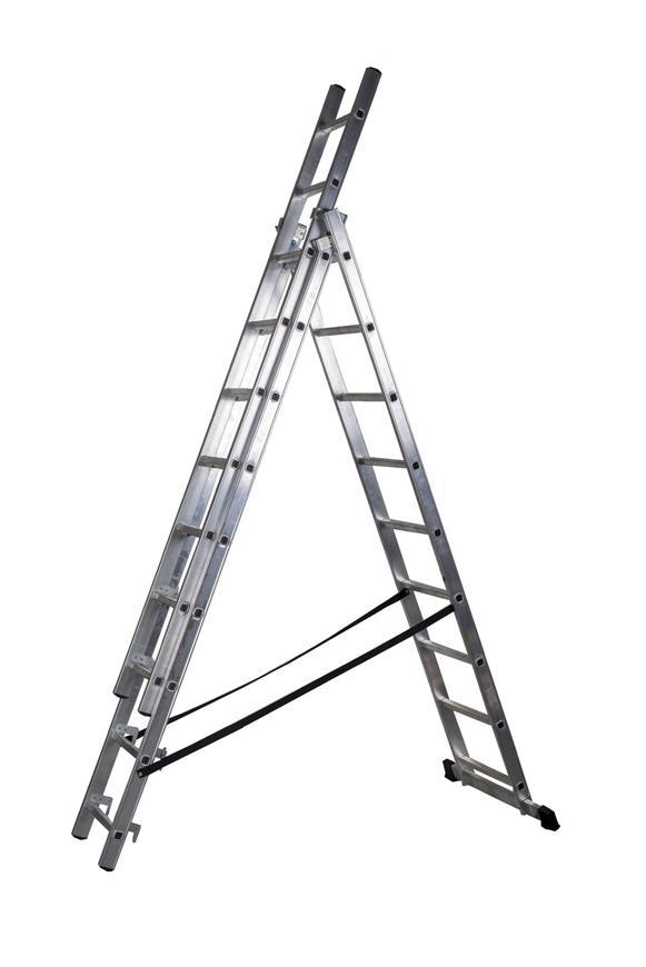 Rebrik Drabest DP 3x09, Alu, EN 131 max. 5.30 m