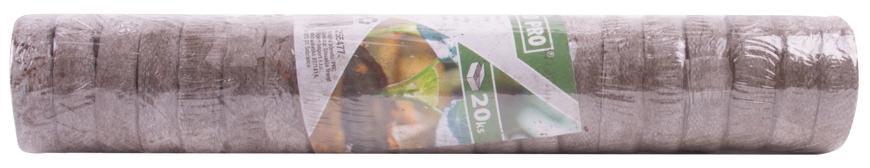 Tablety Herrison P1020, 3x1 cm, 1bal. 20 ks, kokosové, JIFFY