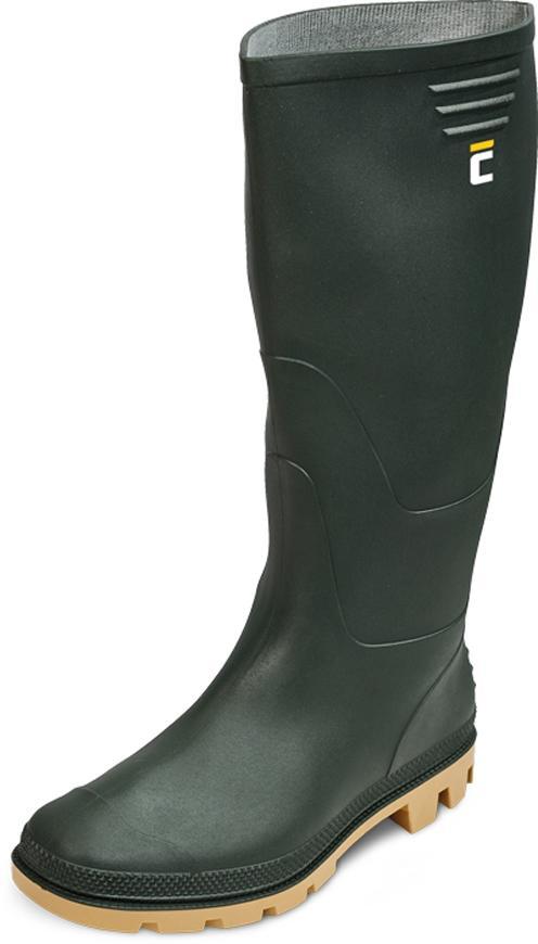Cizmy boots Ginocchio, olivová 45, Pvc