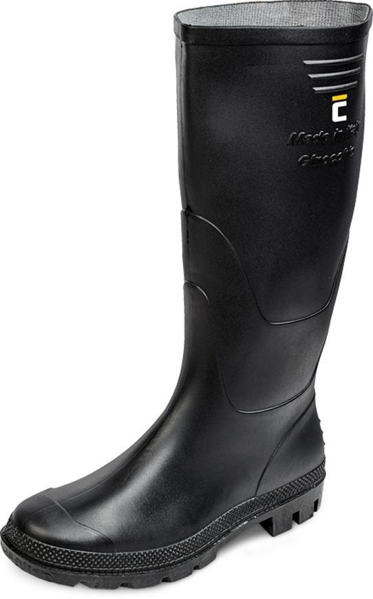 Cizmy boots Ginocchio, čierna 45, Pvc
