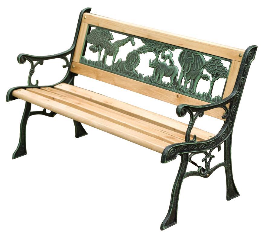 Lavicka záhradná JUMANJI, kov/drevo