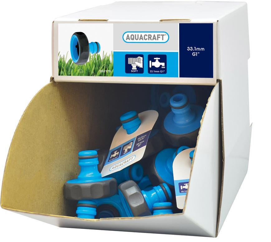 "Adapter SoftTouch 1"", AQUACRAFT® 552175, Display box, 70 ks,"
