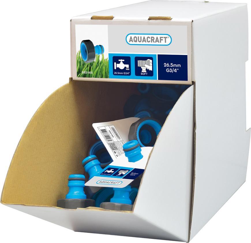 "Adapter SoftTouch 3/4"", AQUACRAFT® 552165, Display box, 70 ks,"